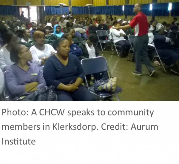 Photo: Community awareness outreach event, Marlven, South Africa. Credit: Emmanuel Mthalane, Wits RHI