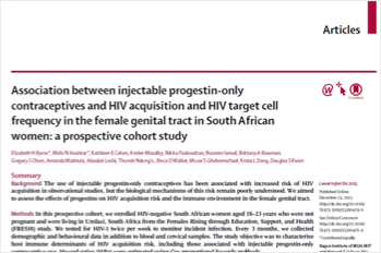 Association between injectable progestin1