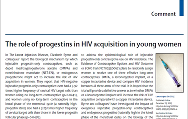 Comment: The role of progestins in HIV acquisition in young women