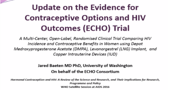 Presentation: Update on the ECHO trial